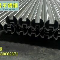 不锈钢圆管双槽管佛山销售316不锈钢镜光槽管