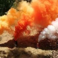 彩色烟雾罐消防部队演练演习环境模拟烟雾罐